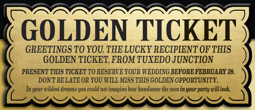 Golden Ticket Wedding Savings